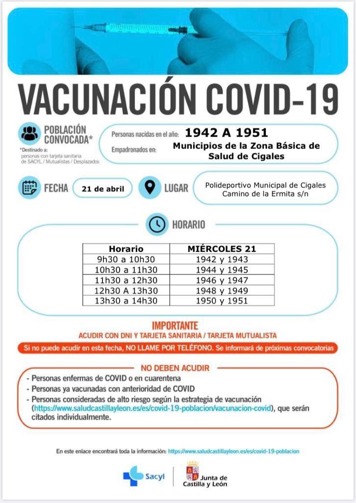 Convocatoria de vacunación en el Centro Cultural Miguel Delibes (Valladolid) 1